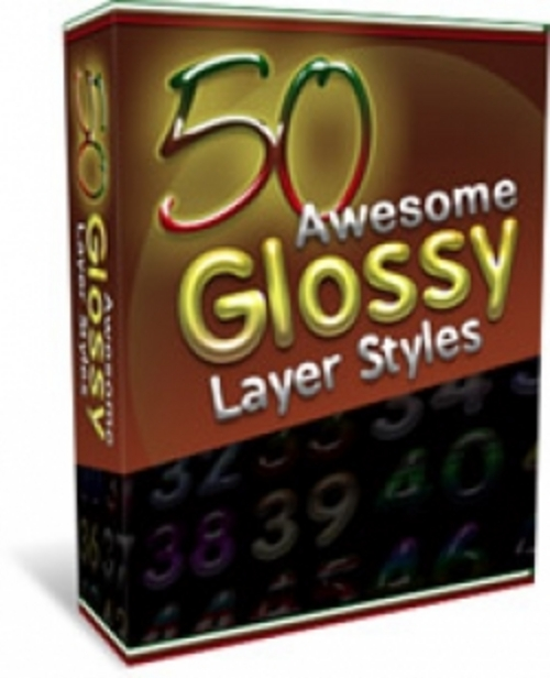 Product picture 50 Glossy Layer Styles (mrr)