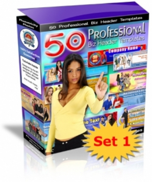 Product picture 50 Professional Business Header Templates 1 (plr)